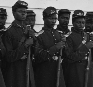 portrait of Black soldiers during the Civil War