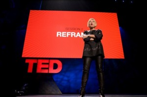 cindy gallop on the Ted talk stage