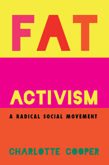 Bright-colored cover of FAT ACTIVISM