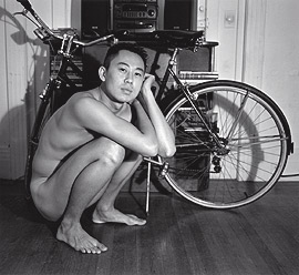 Philip with his bicycle