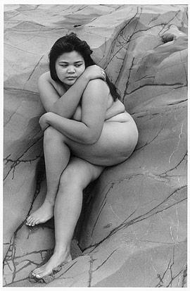Edna on the rocks