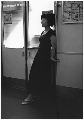 Okuda on train